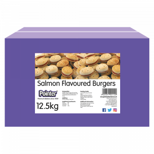 salmon flavoured burgers for dogs